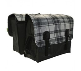 Dubbel Tas Beck Super White Plaid